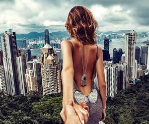 couple, city, and dress image