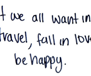 love, travel, and quote image