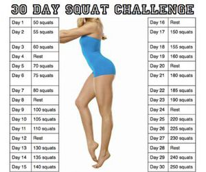 body, healthy, and squat image