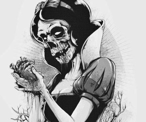 snow white, heart, and zombie image