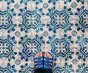 blue, feet, and floor image