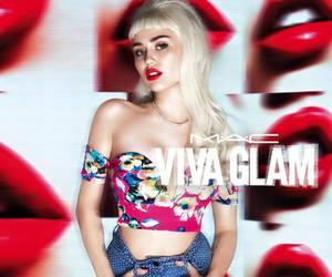 miley cyrus, mac, and viva glam image