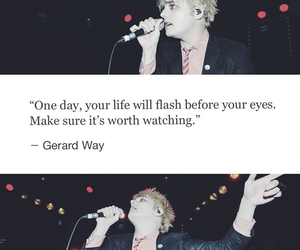 band, gerard way, and mcr image