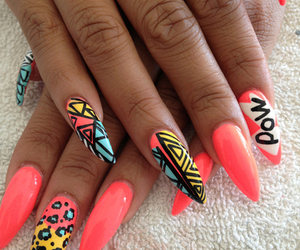 nails, pink, and pow image