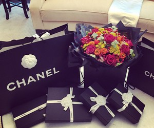 chanel, flowers, and luxury image