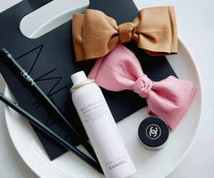 bow, chanel, and makeup image