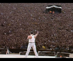 Freddie Mercury, Queen, and live aid image