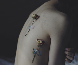 body, dark, and flowers image