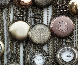 grunge, pocket watches, and vintage image