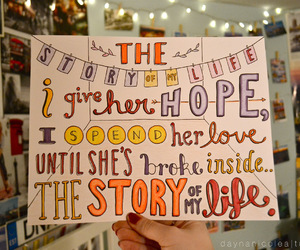 one direction, story of my life, and Lyrics image