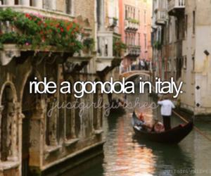 italy, gondola, and bucketlist image