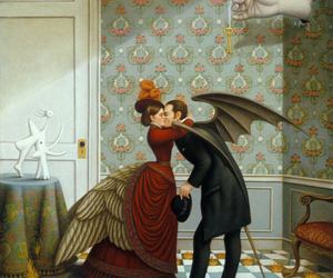 kiss, art, and painting image