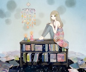 book, anime, and art image