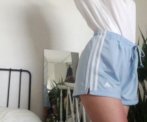 adidas, baby blue, and bed image
