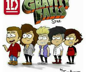 one direction, 1d, and gravity falls image