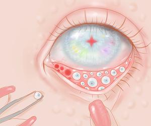 eye, kawaii, and saccstry image