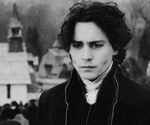 johnny depp, gif, and black and white image