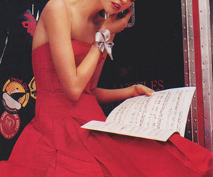 girl and red dress image