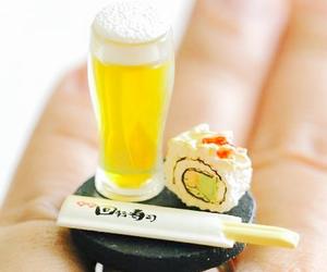 beer, kawaii, and sushi image