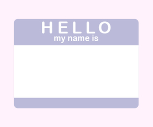 pastel and hello my name is image