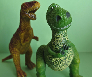 t-rex, toy, and toy story image