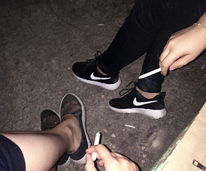 bff, cigarette, and Darkness image