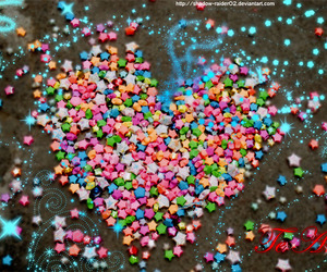 colorful, heart, and stars image