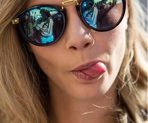 model, cara delevingne, and sunglasses image