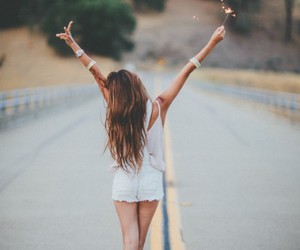 girl, free, and road image