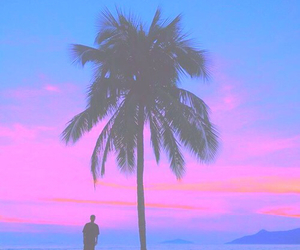 pink, summer, and blue image