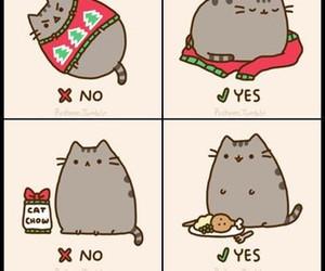 cat, christmas, and pusheen image