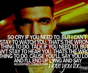 Drake, sad, and text image