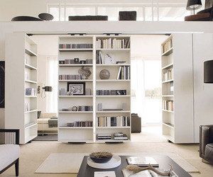 design, room, and books image