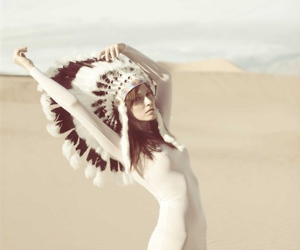 fashion, feathers, and style image