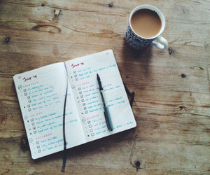 coffee, book, and plan image