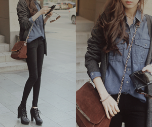 korean, tumblr, and outfit image