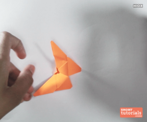 origami, shorttutorials, and paper butterfly image