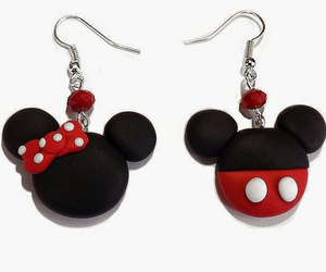 disney, earrings, and fimo image