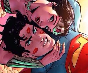 superman, kiss, and wallpaper image