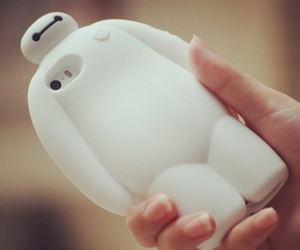 white phone case and baymax phone cases image