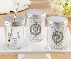 mason jar, wedding favors, and baby shower favors image