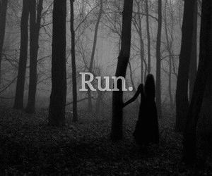 black, creepy, and forest image