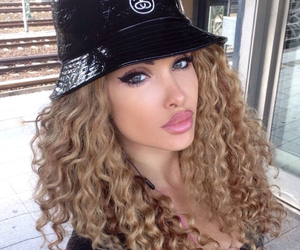 curly hair and beautiful image