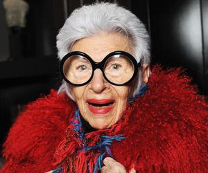 glasses, old woman, and iris apfel image