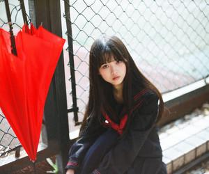 cute asian girl, school girl cosplay, and cute anime girl image