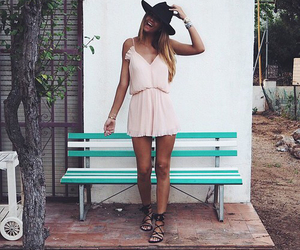 girl, dress, and boho image