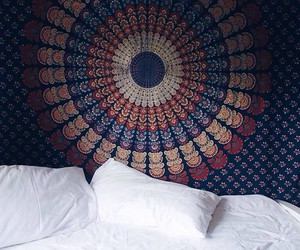 bed, home, and beautiful image