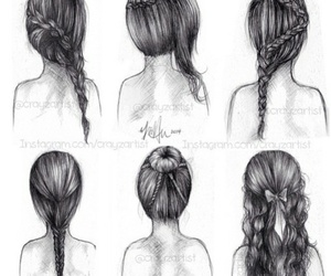 art, bun, and draw image