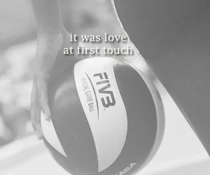 volleyball, fivb, and love image