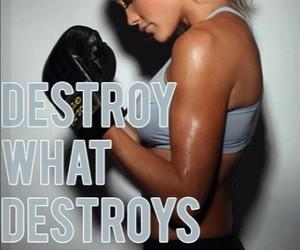 fitness, motivation, and destroy image